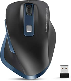 Wireless Mouse, TedGem 2.4G USB Mouse Computer Optical Mouse Full Size Ergonomic Mouse with USB Receiver 6 Buttons Laptop Mouse 5-Level DPI Adjustable Portable Mice for Laptop,PC,Windows,MacOs (Blue)
