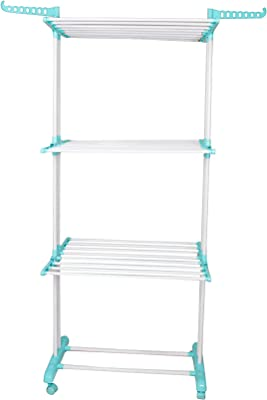 Parasnath Aqua 6 Layer Clothes Drying Stand with Breaking Wheel System