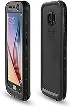Samsung Galaxy S6 Waterproof Case, Meritcase Galaxy S6 IP68 Full Body Waterproof Dirt Proof Snowproof Shockproof Case for Outdoor Swimming Surfing Diving Snorkeling -Black