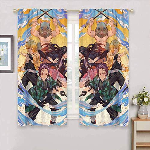 Cortinas opacas con aislamiento térmico para sala de estar, 2 paneles de 72 x 84 pulgadas