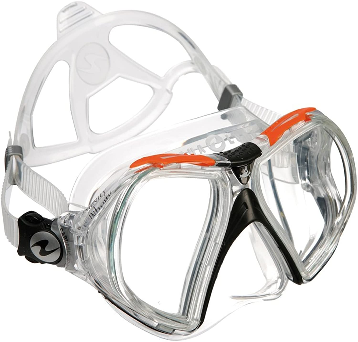 (Clear Silicone  orange)  Aqua lung Infinity Mask