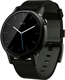 Moto 360 2nd Generation Mens 42mm Smart Watch - Leather Band, Black