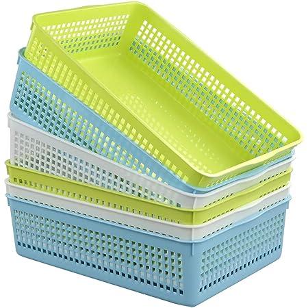 Bblie 6er Pack Wei/ß Kleiner Aufbewahrungskorb Aus Kunststoff Haushaltsk/öRbe Plastik K/öRbe