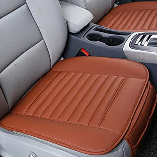 Transer Car Seat Cushion, Breathable PU Leather Bamboo Charcoal Car Seat Cover Pad Mat Protector Auto Chair Cushion (Orange)