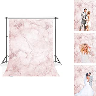Pink Marble Texture Pattern Backdrop for Photography, 5x7ft Soft Cotton with Pole Pocket, Weddings Party Portrait Photo Shooting Props LHFS807