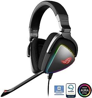 ASUS Hi-Res ESS Quad-DAC 搭載 PC, モバイルゲーム, RGB ゲーム ヘッドセット ROG DELTA