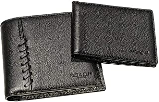 COACH Men's 3-In-1 Wallet with Baseball Stitch