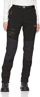 Anlamb Men's Outdoor Waterproof Windproof Fleece Cargo Snow Ski Hiking Pants