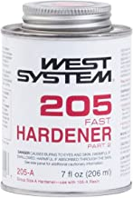 West System 205-A Fast Hardener Part 2, Medium-Viscosity Rapid Epoxy Curing Agent, For General Coating And Bonding Applications At Low Temperatures, Use With 105 Epoxy Resin, 0.44 Pt