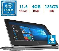 HP ProBook x360 11 EE G3 2-in-1 11.6-inch Touchscreen Display Laptop PC (Intel Quad Core Celeron N4100 Processor, 4GB RAM,...