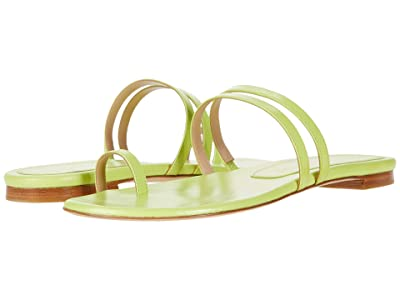 Stuart Weitzman Leonita Slide (Lime Smooth Calf) Women