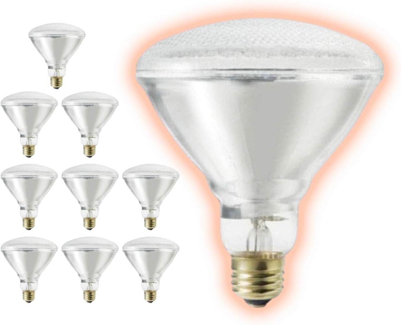 55 Watt BR38 Flood Light Limited time cheap sale Bulbs Clear 27 Sacramento Mall Finish E26 Base Medium