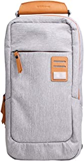 Cross Body Shoulder Bag Small Canvas Strap Sling Men Messenger Bags Leather Chest Pack Mens Chest Bags (Color : A)