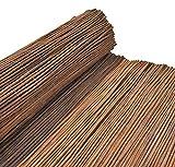 Nature LOUNGE Weidenmatte 100 x 300 cm - Hochwertiger Weiden Sichtschutz Zaun - Weidenzaun Matte für Haus, Garten und Balkon