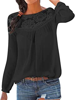 Maglietta da Donna Maniche Lungo con Benda T-Shirt Scollo A V Tinta Unita Casual Eleganti Top Camicetta Autunno Invernali,S-2XL,Mambain