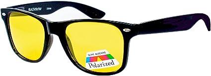 Rainbow Safety Auto Brille Nachtsichtbrille Nachtfahrbrille Kontrastbrille Polarisierte Gläser 2284n Schwarz Sport Freizeit