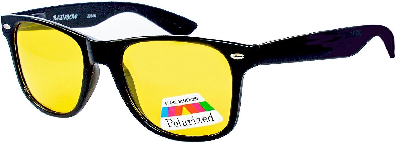 Rainbow Safety - Gafas de visión nocturna polarizadas, gafas de conducción nocturna, gafas de tiro R2284-Black