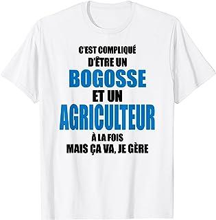 Homme Cadeau agriculteur - Bogosse et agriculteur - Bogoss humour T-Shirt