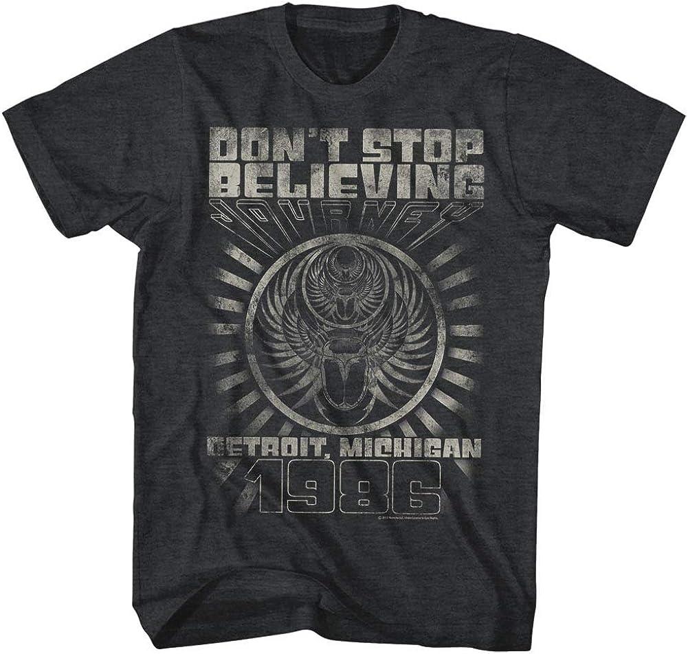 Journey Don't Stop Believing Detroit Album Guitar Cover Rock Band Adult T-Shirt