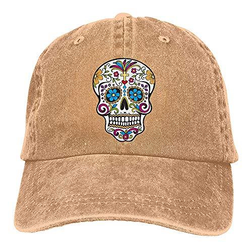 Egoa verrekijker hoed unisex schedel en bloemen-vati-hoed wijnoogst-chic-denim verstelbare honkbalmuts