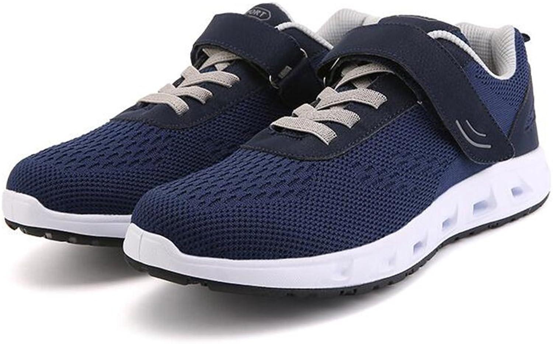HUAN Unisex skor av medelålders medelålders medelålders vandrande skor Comfort Slip -ONS utomhus Exercise skor Pappa Vigous skor  den klassiska stilen
