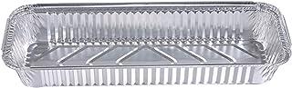 Bandeja Rectangular Papel de Aluminio con Tapa para Alimentos/Plato Aluminio Desechable para Fiesta– 20 piezas (A: Bandeja con Tapa 20 piezas: 35x13x5cm)