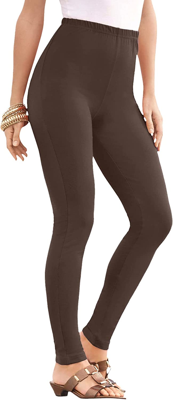 Roamans Women's Plus Size Petite Ankle-Length Essential Stretch Legging Activewear Workout Yoga Pants