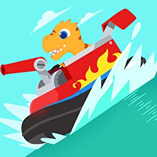 Dinosaur Patrol Boat - Coast Guard Simulator Games for kids