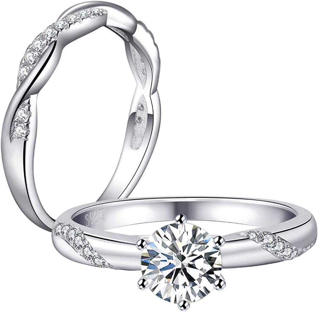 Castillna Sterling Silver Twisted Fresno Mall Limited Special Price Flame CZ Cub Simulated Diamond