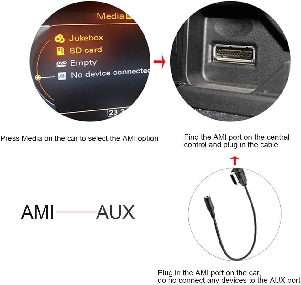 Portable Music Interface AMI MMI AUX Adapter for Audi A3/A4/A5/A6/A8/Q5/Q7