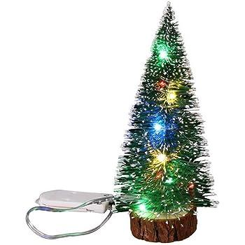 Petit Sapin De Noel Lumineux Storerine Mini Sapin de Noël Artificiel avec Fibre Optique Noël