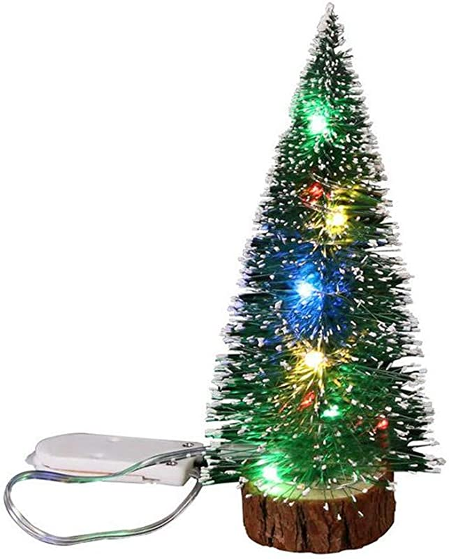 Gotian Christmas Decorations Desktop Decoration With LED Lights Mini Christmas Tree Christmas Decoration Pendant Suitable For Wedding Birthday Christmas Carnival New Year S Eve Party L