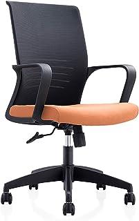 QHF Silla de Escritorio de Malla Amarilla Silla ejecutiva Ajustable para computadora Sillas de Oficina con Brazos Silla giratoria de Oficina ergonómica