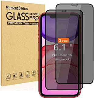 Designed for iPhone 11 Screen Protector Tempered Glass,iPhone XR Screen Protectors,Privacy Anti-Spy (Anti Scratch) (Full C...