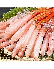 刺身用 北海道産 紅ズワイガニ 3L~4L 南蛮付 極太ポーション 1kg (生食 むき身 一番脚 ギフト)