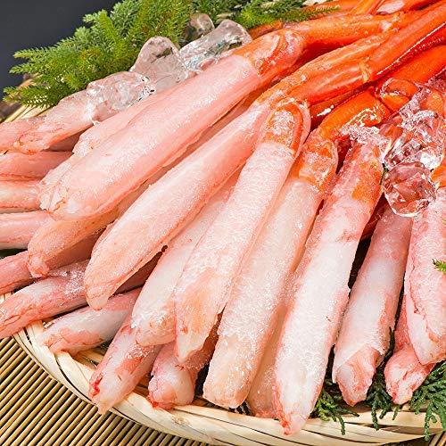刺身用 北海道産 紅ズワイガニ 3L~4L 南蛮付 極太ポーション 1kg 36~40本(生食 むき身 一番脚 年末年始 ...