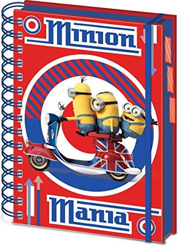 Minions - Cahier à spirale A5 British Mod Red
