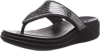 حذاء رياضي عريض فاخر بشريط في الوسط وزينة معدنية من مجموعة مونتيري للنساء من كروكس