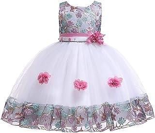 ガールズウェディングドレス ショースカート女の子ドレス子供プリンセスドレススカートペチコート子供ドレス 誕生日イブニングボールガウン (色 : 赤, サイズ : 140cm)