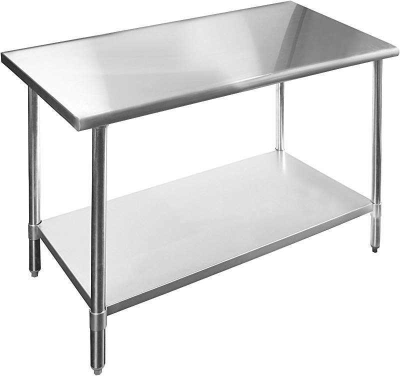 KPS Commercial Stainless Steel Work Prep Table 14 X 36 NSF