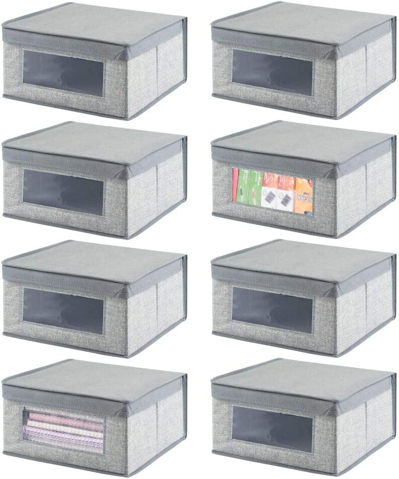 mDesign Soft SEAL limited product Stackable Fabric Closet Storage Organizer Bi 2021 Holder