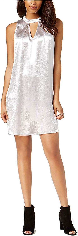 Bar III Womens Metallic Sleeveless Mini Dress