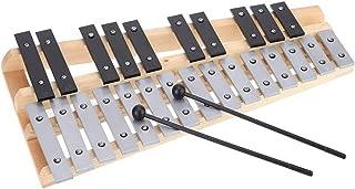 RROWER 15 Son Pliable Glockenspiel Xylophone Cadre en Bois Percussion Musicale avec Iron Sac Piano avec Deluxe Souple Carry Case de Musique pour Enfants Jouets Jouets pour Tous Les /âges