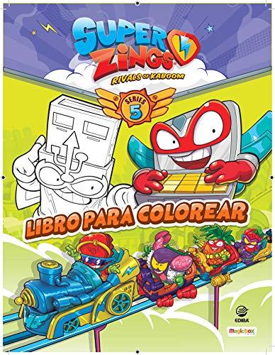 Libro para colorear Superzings Series 5 - España