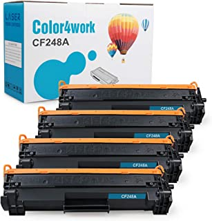 Color4work Compatible Toner Cartridge Replacement for HP 48A CF248A Black, 4-Pack, use for HP Laserjet Pro MFP M29 M29w M15 M15w MFP M28 M16