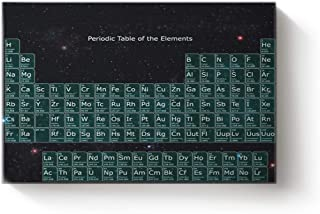 Canvas Print Wall Art Living Room Starry Sky Periodic Table The Elements Wall Art Pictures Home Decor Stretched Framed Ready to Hang 16