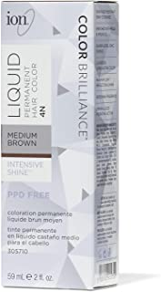 4N Medium Brown Permanent Liquid Hair Color