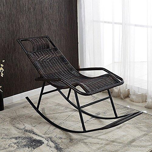 QARYYQ schommelstoel stok voor volwassenen Siesta lounge woonkamer balkon stoel stoel ouderen vrije tijd schommelstoel klapstoel