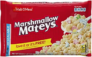 Malt-O-Meal Marshmallow Mateys Cereal, 23 Ounce Breakfast Cereal Bag ,Pack of 9