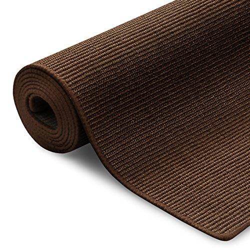 Floordirekt 100% reines Sisal | Sisalteppich vielen Größen (Dunkelbraun, 80 x 150 cm)